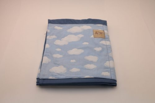 Sling de Argola Azul Estampado Nuvem