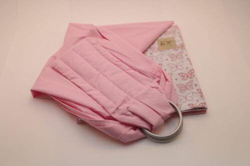 Sling de Argola Rosa Estampa Borboleta