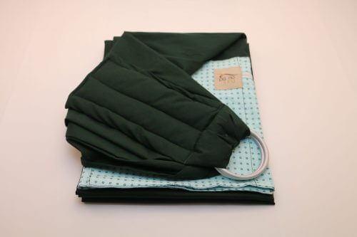 Sling de Argola Verde Escuro Estampa Bolinhas (1)