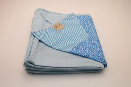 Wrap Sling Azul Claro Floral com Listras