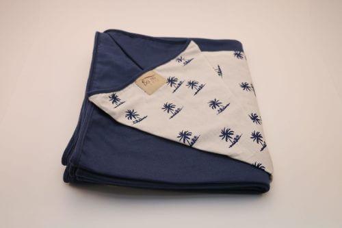 Wrap Sling Azul Marinho Estampa Coqueiros