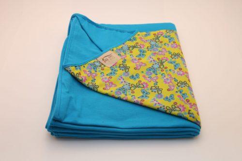 Wrap Sling Azul Turquesa Estampa Borboletas Amarela