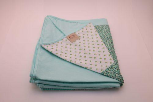 Wrap Sling Verde Claro Estampado Floral Xadrez