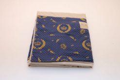 Sling de Argolas Bege Detalhe Azul Coroas