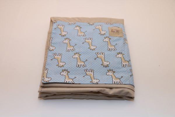 Sling de Argolas Bege Detalhe Girafa Azul