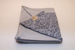 Wrap Sling Cinza Detalhe Arabesco Azul