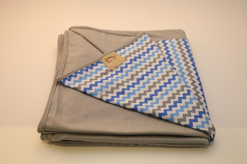 Wrap Sling Cinza Chevron Azul Cinza