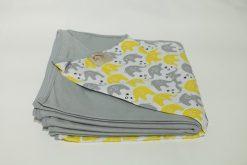 Wrap Sling Cinza Estampa Elefante Amarelo
