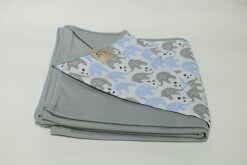 Wrap Sling Cinza Estampa Elefante Azul