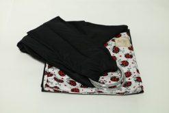 Sling de argolas preto joaninhas