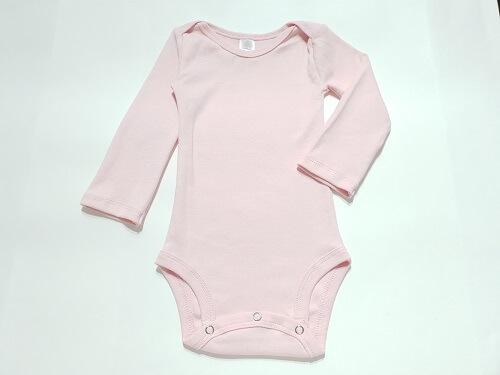 Body de bebê rosa manga longa