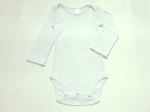 Body para bebê branco manga longa