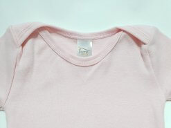 Body de bebê rosa liso