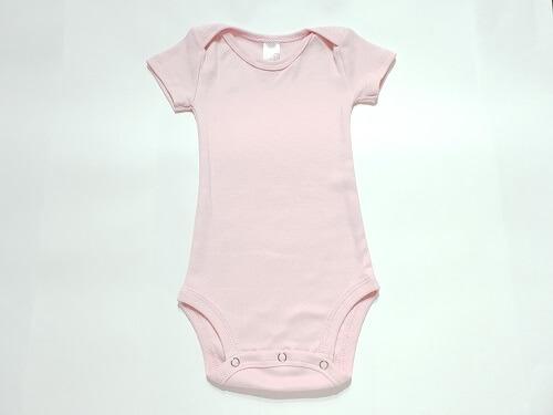 Body para bebês rosa manga curta