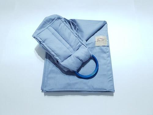 Sling de Argolas Cinza com Argola Azul