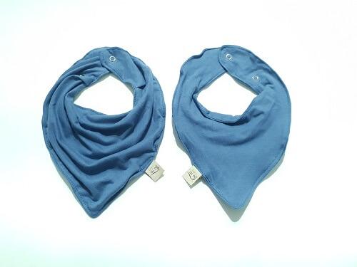 Babador Bandana Azul Jeans Algodão