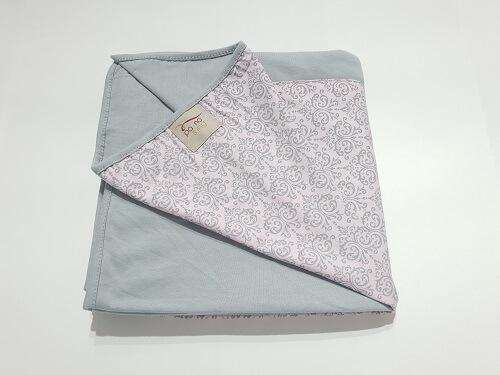 Wrap Sling Cinza Arabesco Rosa