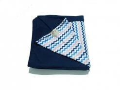 Wrap Sling Azul Marinho Chevron Rosa e Azul