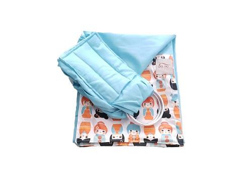 Sling de Argolas Azul Tiffany Bonecas Japonesas