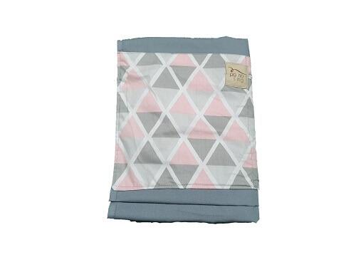 Sling de Argolas Cinza com Triângulos Rosa