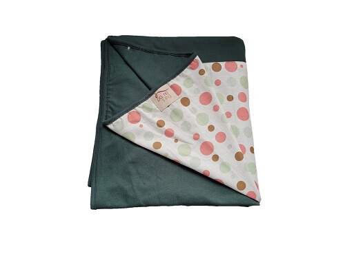 Wrap Sling Verde Escuro de Bolinhas